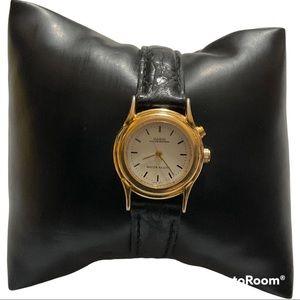 Vtg Ladies CASIO Illuminated Leather Band Watch